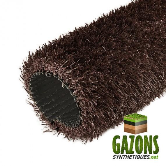 gazon synthétique marron